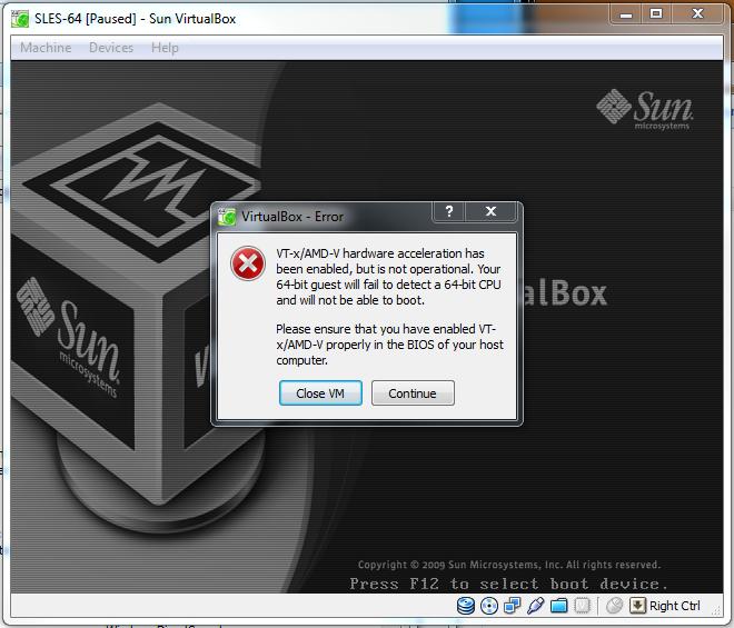 Conquering Sun VirtualBox